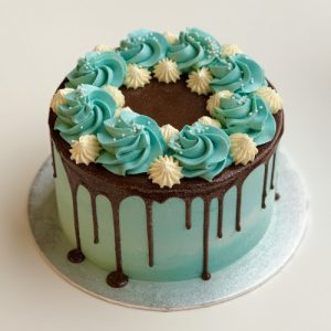 Swirls Drip Cake 15cm Pastel Blue