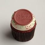 Merry Christmas Red Velvet Cupcake