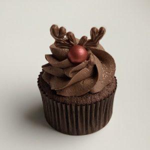 Rudolph Chocolate Cupcake