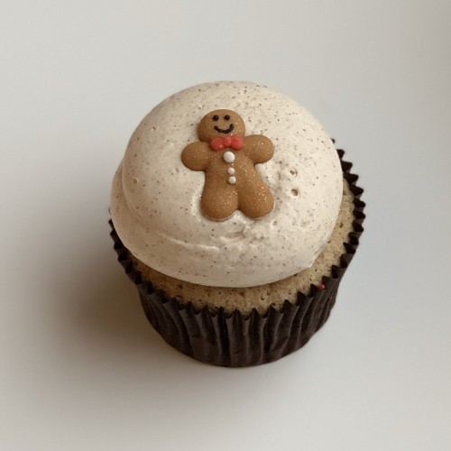 Gingerbread Man Cupcake