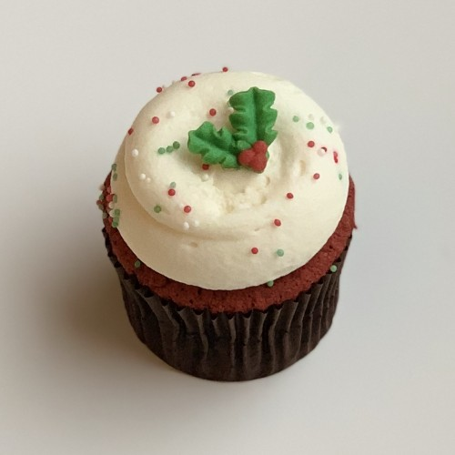 Holly Red Velvet Cupcake