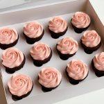 Rose Swirl Cupcakes VEGAN