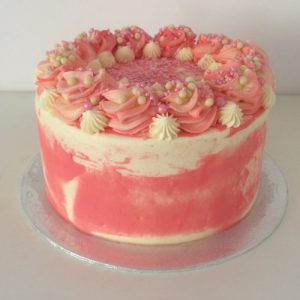 Classic Marble Cake Pink 20cm