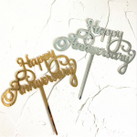 Cake topper – HAPPY ANNIVERSARY