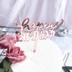 Cake Topper – HAPPY BIRTHDAY – Rose Gold
