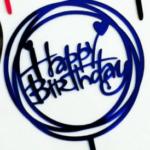 Cake Topper – HAPPY BIRTHDAY – Blue