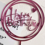 Cake Topper – HAPPY BIRTHDAY – Pink
