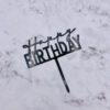 Birthday topper Black
