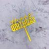 Birthday topper Gold
