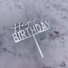 Birthday topper Silver