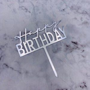 Birthday topper Silver