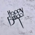 Cake Topper – Birthday Bold – Black