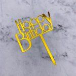 Cake Topper – Birthday Bold – Gold