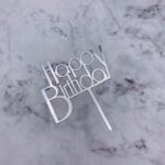 Cake Topper – Birthday Bold – Silver