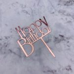 Cake Topper – Birthday Bold – Rose Gold