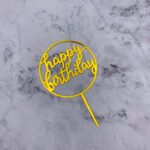 Cake Topper – BIRTHDAY – Gold Round