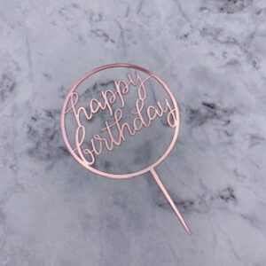 Birthday topper Rose Gold Round