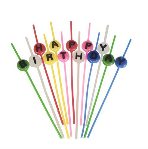 Happy Birthday Candle Set long