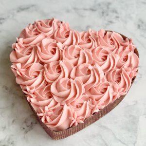 Rosette Heart Cake