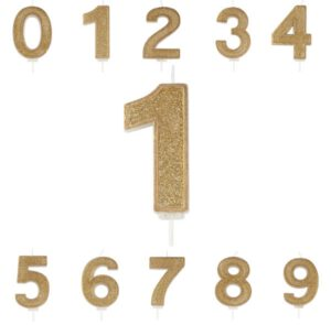 Number Candle Gold
