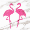 Flamingo duo topper