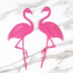 Cake Topper – Flamingo duo
