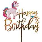 Cake Topper – Happy Birthday Unicorn